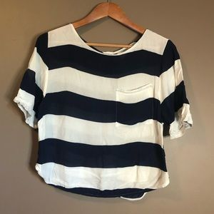 3 for $20! H&M striped shirt sleeve top